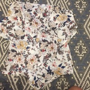LF floral strapless romper